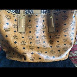 MCM tan bag